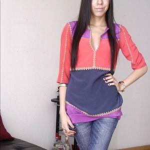 Bcbg Colorful tunic XS